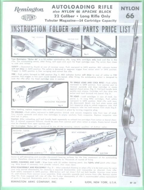 backgrounds & buttons remington nylon 66 parts diagram